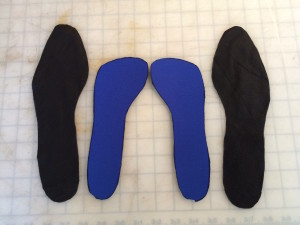 Assembling the insole / sock
